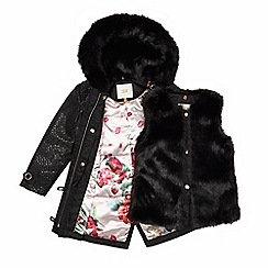 Baker by Ted Baker - Girls' black 3 in 1 coat