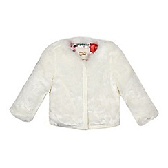 Baker by Ted Baker - Girls' off white faux fur bomber jacket