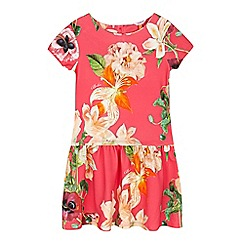 Baker by Ted Baker - Girls' pink floral print dress