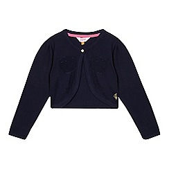 Baker by Ted Baker - Girl's navy metallic bow cover up