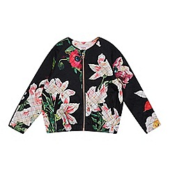 Baker by Ted Baker - Girls' black quilted floral jacket
