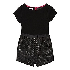 Baker by Ted Baker - Girls' black jacquard playsuit