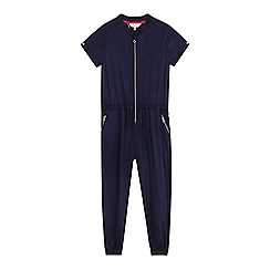 Baker by Ted Baker - Girls' dark blue exposed zip jumpsuit