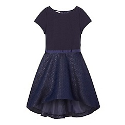 Baker by Ted Baker - Navy jacquard dress