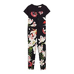 Baker by Ted Baker - Girls' black printed jumpsuit