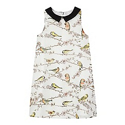 Baker by Ted Baker - Girl's cream branch and bird print dress