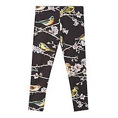 Baker by Ted Baker - Girl's black bird and branch print leggings