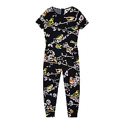 Baker by Ted Baker - Girl's black bird and branch print jumpsuit