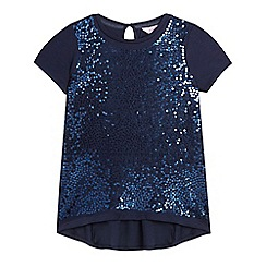 Baker by Ted Baker - Girls' navy sequinned t-shirt