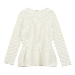 Baker by Ted Baker - Girls' cream chunky knit jumper