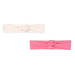 Baker by Ted Baker - Set of two babies light pink bunny headbands