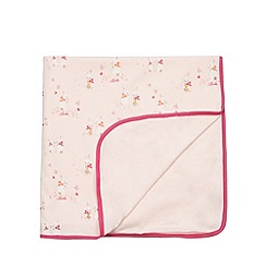 Baker by Ted Baker - Babies light pink bunny printed jersey blanket