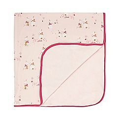 Baker by Ted Baker - Babies light pink bunny print blanket