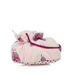 Baker by Ted Baker - Babies light pink tulip printed booties