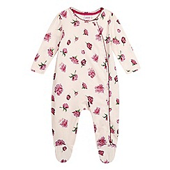 Baker by Ted Baker - Babies' pink sleep suit and rattle in a gift box