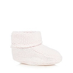 Baker by Ted Baker - Baby girls' pink knitted booties