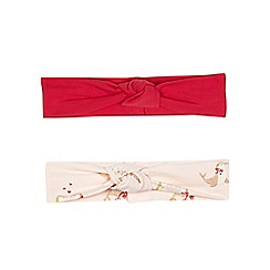 Baker by Ted Baker - Pack of two baby girls' pink headbands