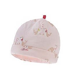 Baker by Ted Baker - Baby girls' light pink seal print beanie hat