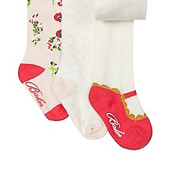 Baker by Ted Baker - Set of three baby girls' tights in a gift box