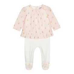 Baker by Ted Baker - Baby girls' light pink jacket sleepsuit
