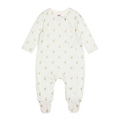 Baker by Ted Baker - Baby girls' white logo sleepsuit