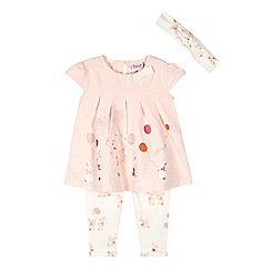 Baker by Ted Baker - Baby girls' pink bunny print top and leggings