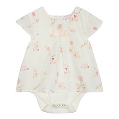 Baker by Ted Baker - Baby girls' off white bunny print mock bodysuit