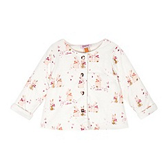 Baker by Ted Baker - Baby girls' off white bunny print wrap sweater