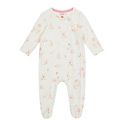 Baker by Ted Baker - Baby girls' off white bunny print sleepsuit