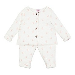 Baker by Ted Baker - Baby girls' white logo print top and trouser set