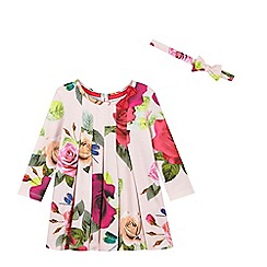 Baker by Ted Baker - Baby Baby girls' pink floral jersey dress