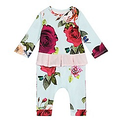 Baker by Ted Baker - Baby girls' turquoise peplum set