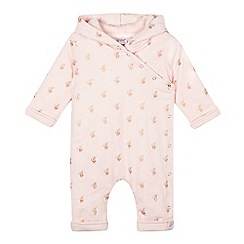 Baker by Ted Baker - Baby girls' light pink logo romper suit