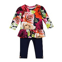 Baker by Ted Baker - Baby girls' floral print tunic and leggings set