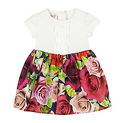 Baker by Ted Baker - Baby girls' white rose mock dress