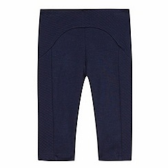 Baker by Ted Baker - Baby girls' navy quilted insert leggings