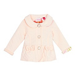 Baker by Ted Baker - Baby girls' pink quilted sweater jacket