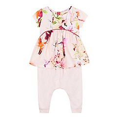 Baker by Ted Baker - Baby girls' pink floral print top and harem leggings set