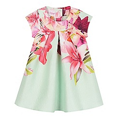 Baker by Ted Baker - Light green bird jacquard dress