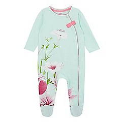 Baker by Ted Baker - Baby girls' light green sleepsuit and headband