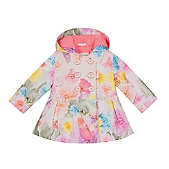 Baker by Ted Baker - Baby girls' pink floral print mac coat