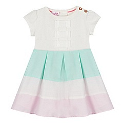Baker by Ted Baker - Baby girls' white block stripe dress