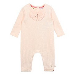 Baker by Ted Baker - Baby girls' light pink quilted sleepsuit