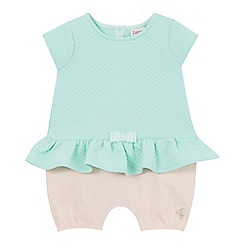 Baker by Ted Baker - Baby girls' light green quilted romper