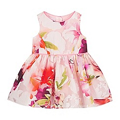 Baker by Ted Baker - Baby girls' pink floral print burnout prom dress