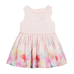 Baker by Ted Baker - Baby girls' light pink floral bow dress