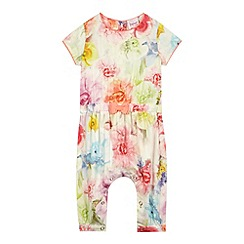 Baker by Ted Baker - Baby girls' orange floral jumpsuit