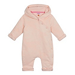 Baker by Ted Baker - Baby girls' light pink rose jacquard snuggle suit