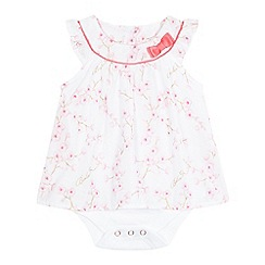 Baker by Ted Baker - Baby girls' white floral print bodysuit