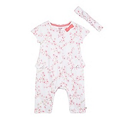 Baker by Ted Baker - Baby girls' white footless sleepsuit & headband